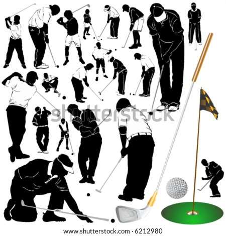 golf vector 2 (clothes detail) - stock vector