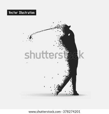 golf vector eps 10 illusration particle divergent stock vector rh shutterstock com golf victoria golf factory newcastle