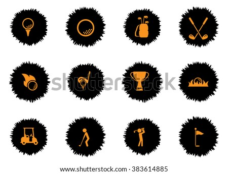 Golf  vector icons for web sites and user interface - stock vector