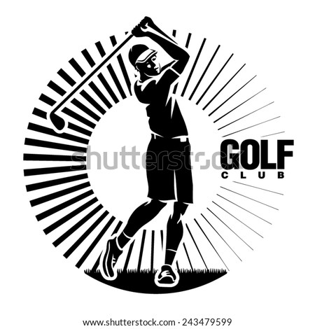 Golf. Vector illustration in the engraving style - stock vector