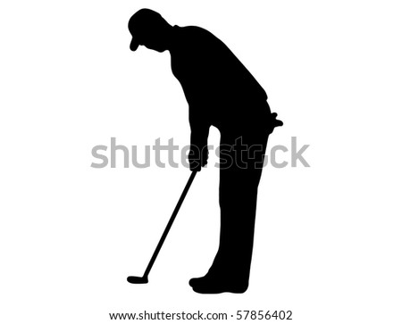 golfer isolated on white - stock vector