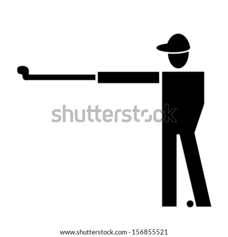 golfer symbol vector illustration - stock vector