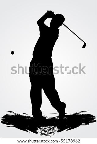 Golfer, vector illustration - stock vector