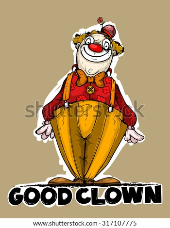 Good clown. Colored