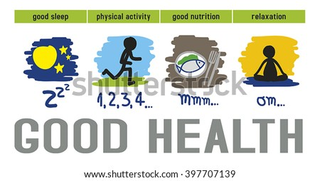 Physical Health Infographic Physical Activity Good Stock ...