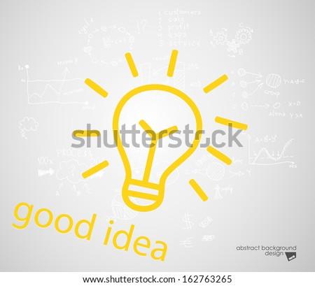 Good idea sign silhouette - stock vector