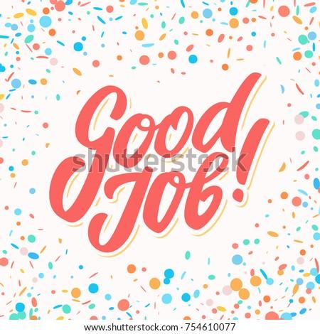 Good job greeting card stok vektr 754610077 shutterstock good job greeting card m4hsunfo