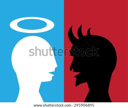 Good man and Evil man are talking about agreement for their business, God and evil are friend. No enemy in their business.