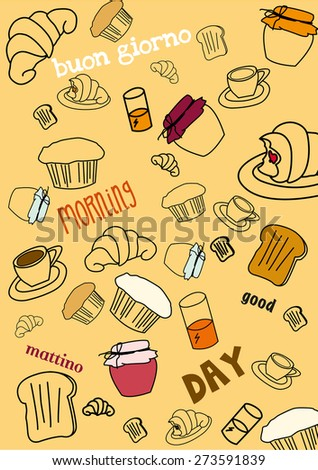 good morning - stock vector