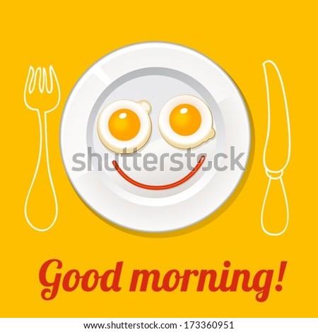 good morning poster - stock vector