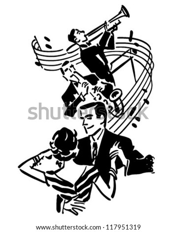 Good Music And Dancing - Retro Clipart Illustration