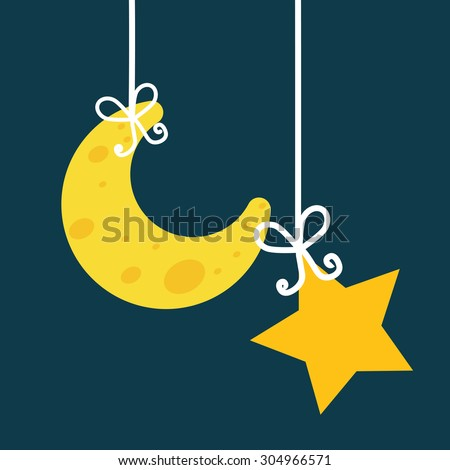 Good Night digital design, vector illustration 10 eps graphic - stock vector