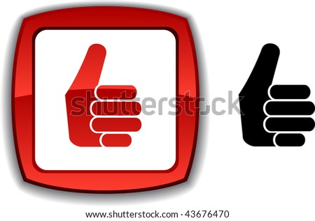 Good   realistic button. Vector illustration.