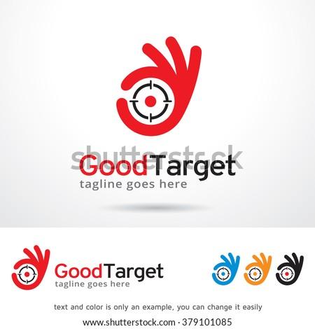 Good Target Logo Template Design Vector - stock vector