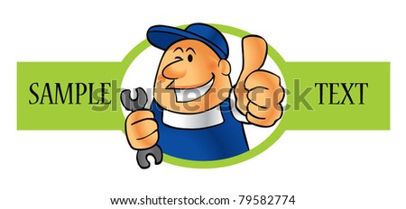 good work - stock vector