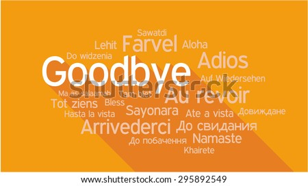 GOODBYE in different languages, words collage vector illustration. - stock vector