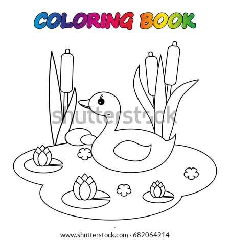 Goose Coloring Book Coloring Page Educate Vector de stock682064914 ...