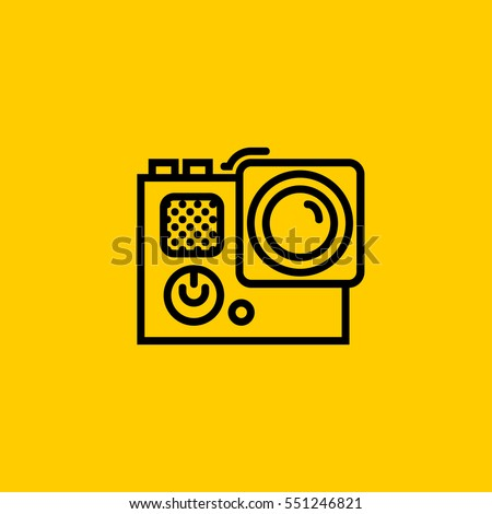 Gopro Icon Isolated Sign Symbol Stock Vector 551246821 Shutterstock