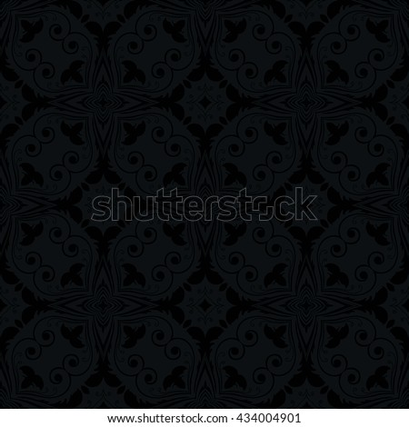 Gorgeous pattern, ornament. Hand-painted. Islam, Arabic, Indian. Abstract flower with hearts. Decorative elements for design of walls, floors, packaging. Template. Design.