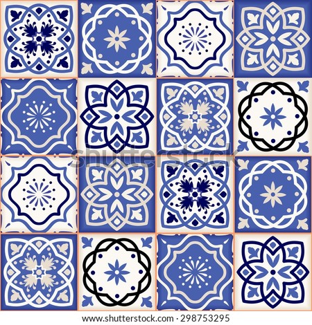 Gorgeous seamless patchwork pattern from colorful Moroccan tiles, ornaments. Can be used for wallpaper, pattern fills, web page background,surface textures.  - stock vector