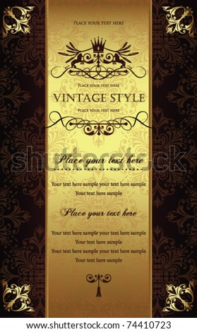 Gorgeous vintage template 2 - stock vector