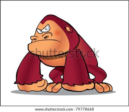 gorilla cartoon 2 - stock vector
