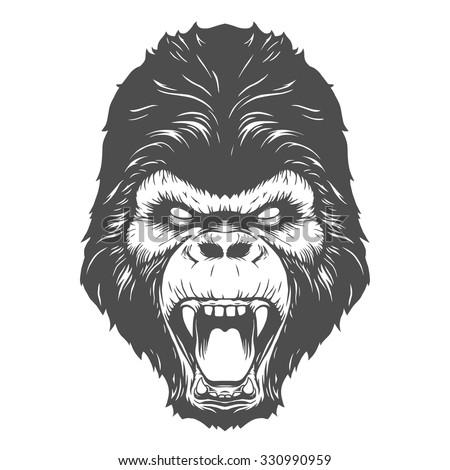 Gorilla vector head - photo#3