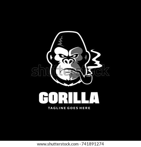 Gorilla head logo king kong vector vectores en stock 741891274 shutterstock - King kong design ...