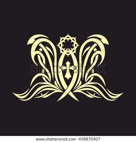 Gothic Tattoo Marks Christian Symbols Fish Stock Vector Hd Royalty
