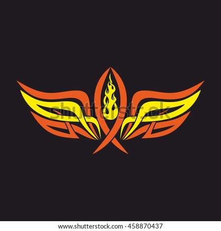Gothic Tattoo Marks Christian Symbols Fish Stock Vector 458870437