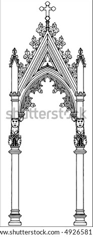 Gothic Arch Stock Vector 492658117