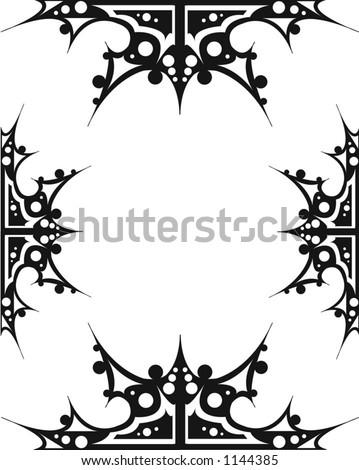 Gothic Border - stock vector