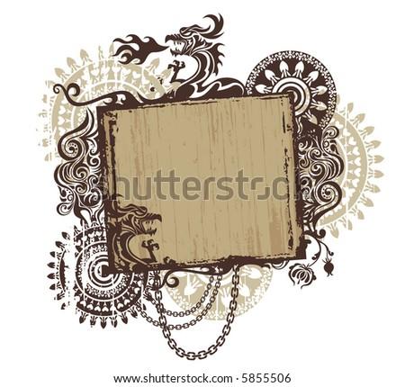 Gothic frame - stock vector