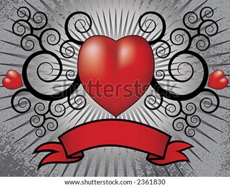 Gothic Valentines Love Heart
