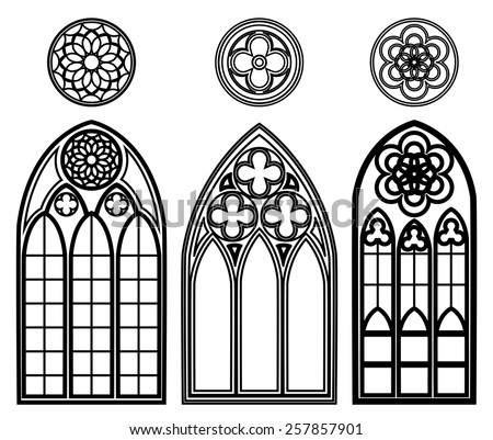 Cathedral window stock images royalty free images for Gothic design elements