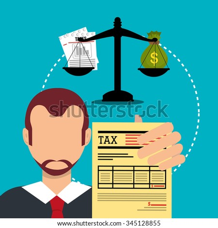 Goverment taxes payment graphic design, vector illustration eps10 - stock vector