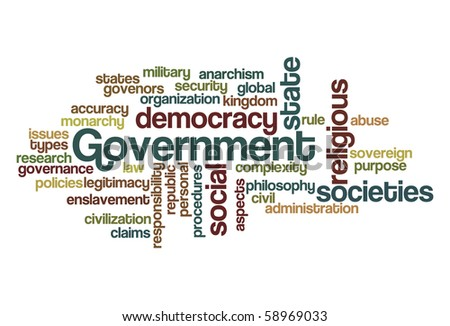 Government - Word Cloud - stock vector