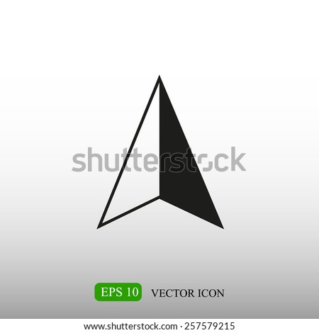 GPS arrow icon - stock vector