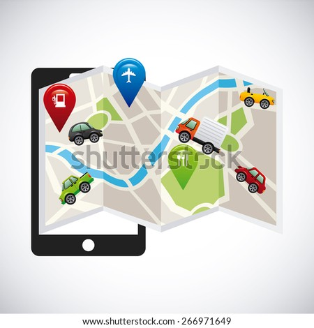 gps concept design, vector illustration eps10 graphic