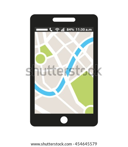 gps map app icon vector isolated graphic