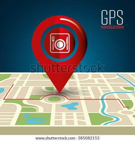 gps navigation design  - stock vector