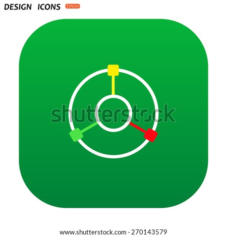 GPS navigation. icon. vector design - stock vector