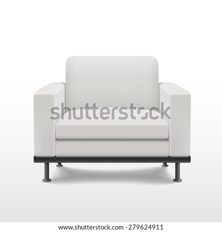 graceful blank sofa isolated on white background - stock vector