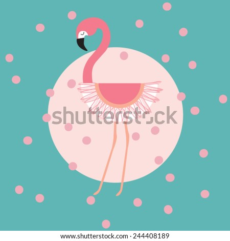 graceful flamingo vector illustration - stock vector