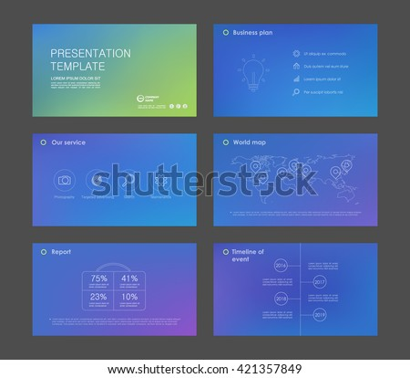 Gradient abstract templates. Presentation templates. Use in presentation, flyer, corporate report, marketing, advertising . - stock vector
