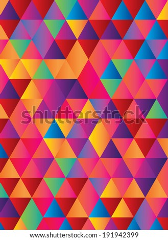 gradient background in geometric repeat pattern - stock vector