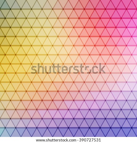 gradient blue, red, yellow, violet, cyan color and triangle polygon pattern background (vector) - stock vector