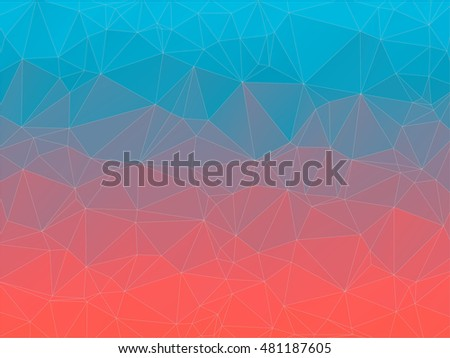 Gradient 2D triangle geometric multicolor background
