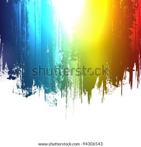 Gradient paint splashes background. Vector eps10 effect - stock vector