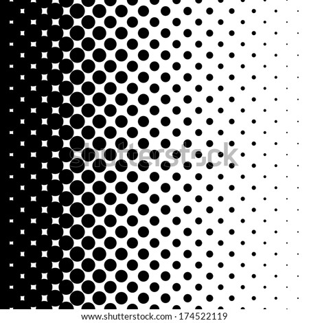 gradient seamless background with black dots - stock vector
